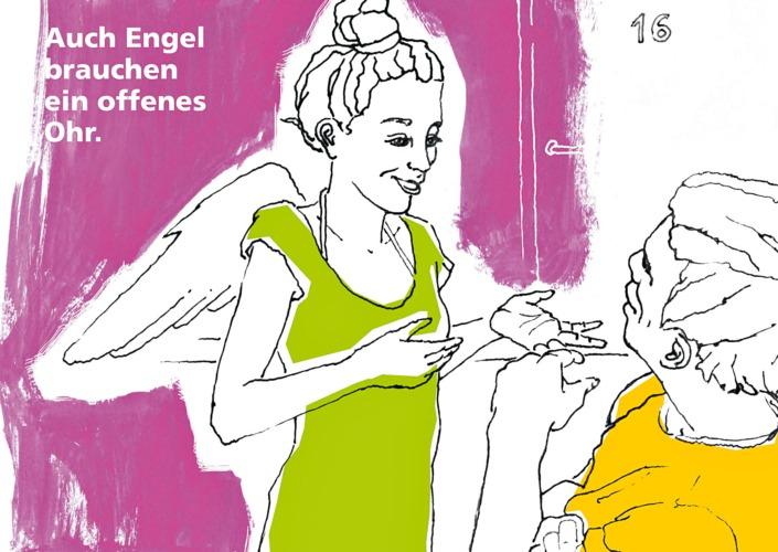 Postkarten-Motiv, Serie zur Pflege