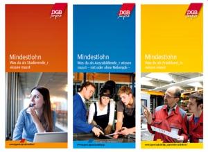 Flyer-Motive zum Mindestlohn