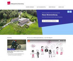 Ansicht der Startseite, Bildungszentrum Brannenburg