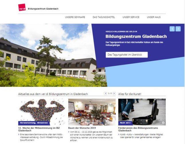 Website BIZ Gladenbach