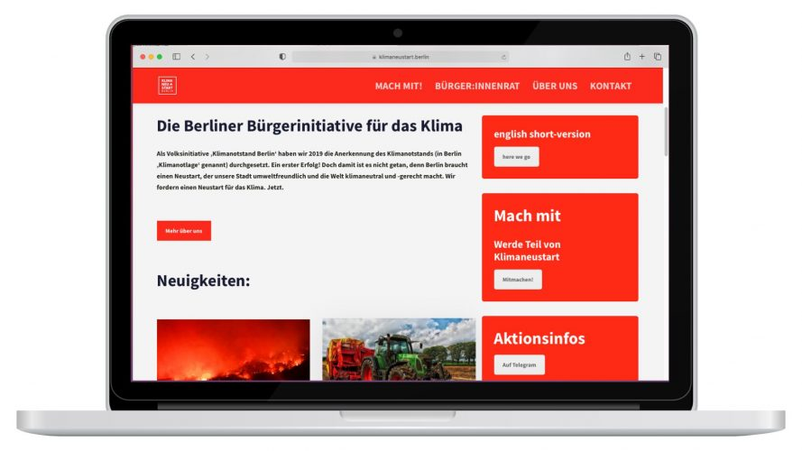 Website Klimaneustart.berlin