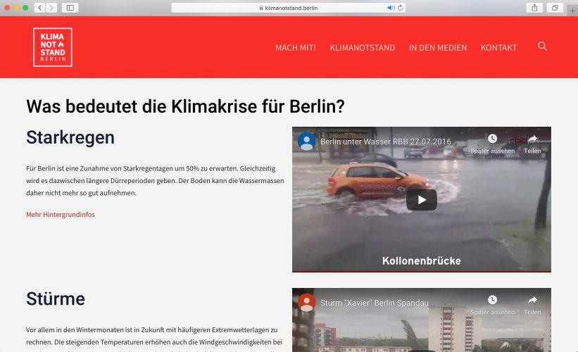 Website klimanotstand.berlin 3
