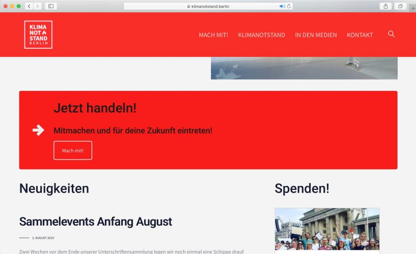 Website klimanotstand.berlin 4