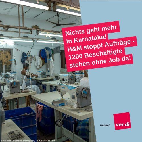 Arbeitsbeispiel Sharepic, Fanpage ver.di Handel