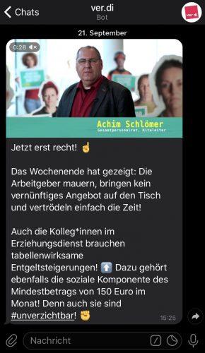 Telegram-Kanal zur Tarifrunde öffentlicher Dienst, ver.di Bundesverwaltung