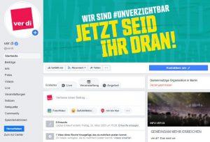 Facebook-Fanpage ver.di Bundesverwaltung