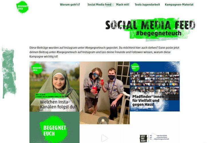 Social-Media-Arbeit zur Kampagne