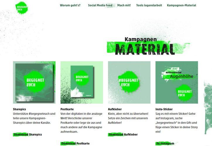 Online- und Print-Material zur Kampagne