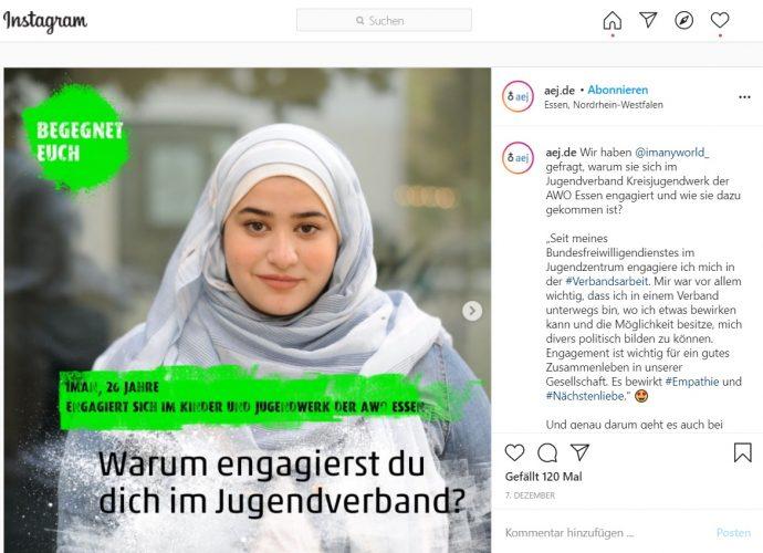Instagram-Beitrag zur Kampagne