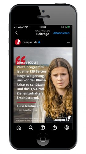 Instagram-Kanal Campact