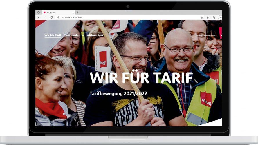 Webseite, Wir für Tarif