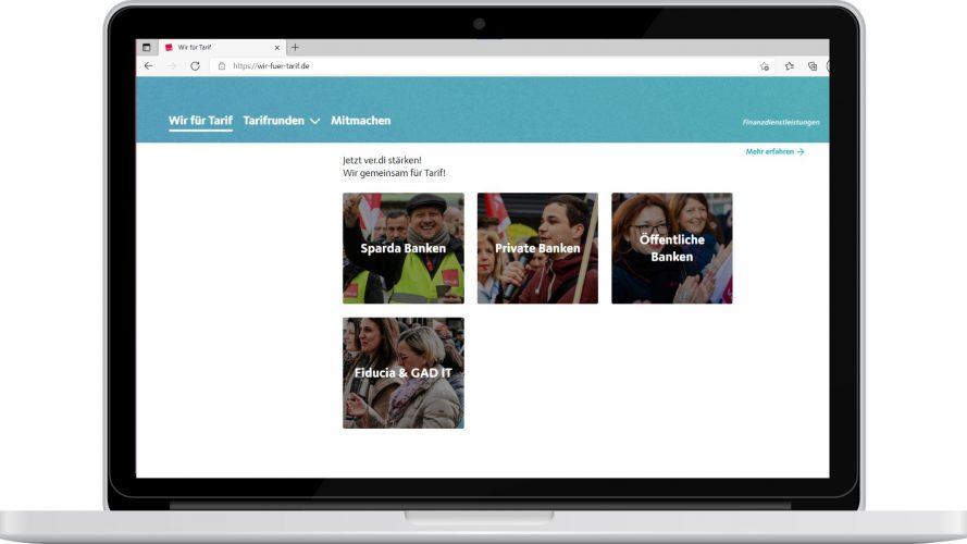 Website, Wir für Tarif